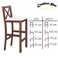 Krzesło barowe - Hoker H22, H22/2