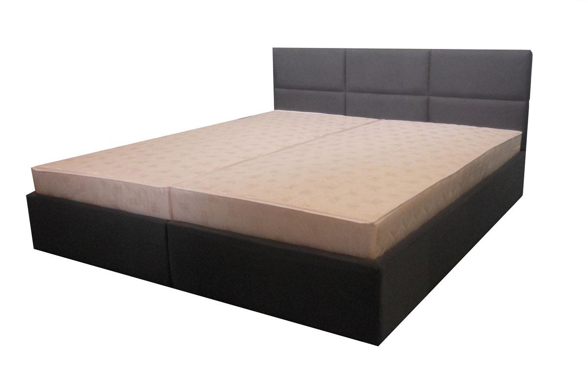 łóżko z zagłowiem