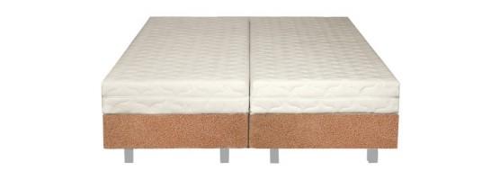 Łóżko tapicerowane z ramą metalową