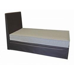 Łóżko z dostawką tapicerowane