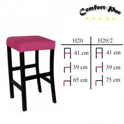 Krzesło barowe - Hoker H20, H20/2
