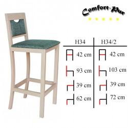 Krzesło barowe - Hoker H34, H34/2