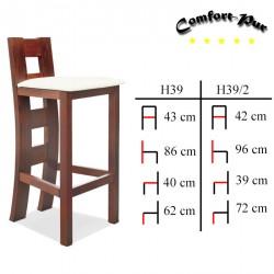 Krzesło barowe - Hoker H39, H39/2